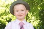Cute Boy Wearing Hat And Tie
