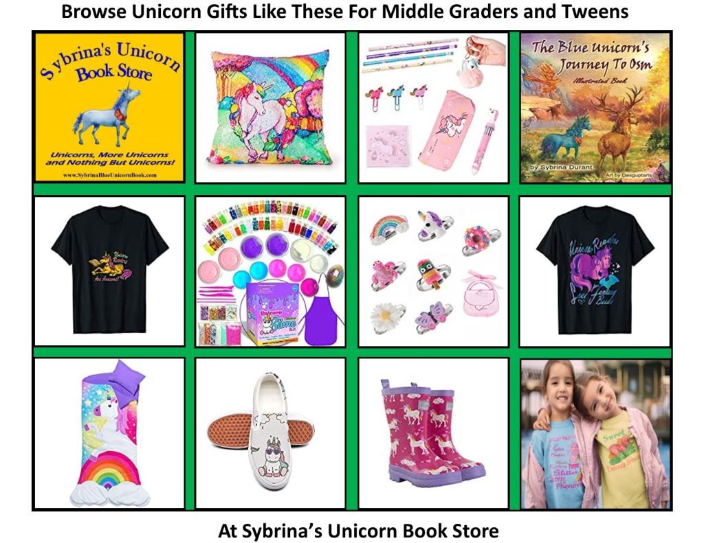 http://www.sybrinablueunicornbook.com/index_6Unicorn_Gifts__For_Middle_Kids.htm
