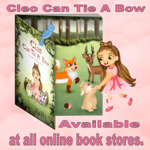 Recommended by Sybrina - author of Cleo Can Tie A Bow.  Book available at all online book sgtores.